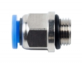 Push-in connector 1/4 male x 6 mm, straight, 16 bar