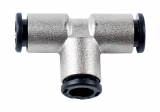 Push-in connector 3 x 8 mm, T-piece, 16 bar