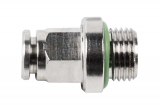 Push-in connector 1/8 male x 4 mm, straight, 16 bar