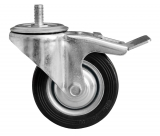 Steering roller with metal brake